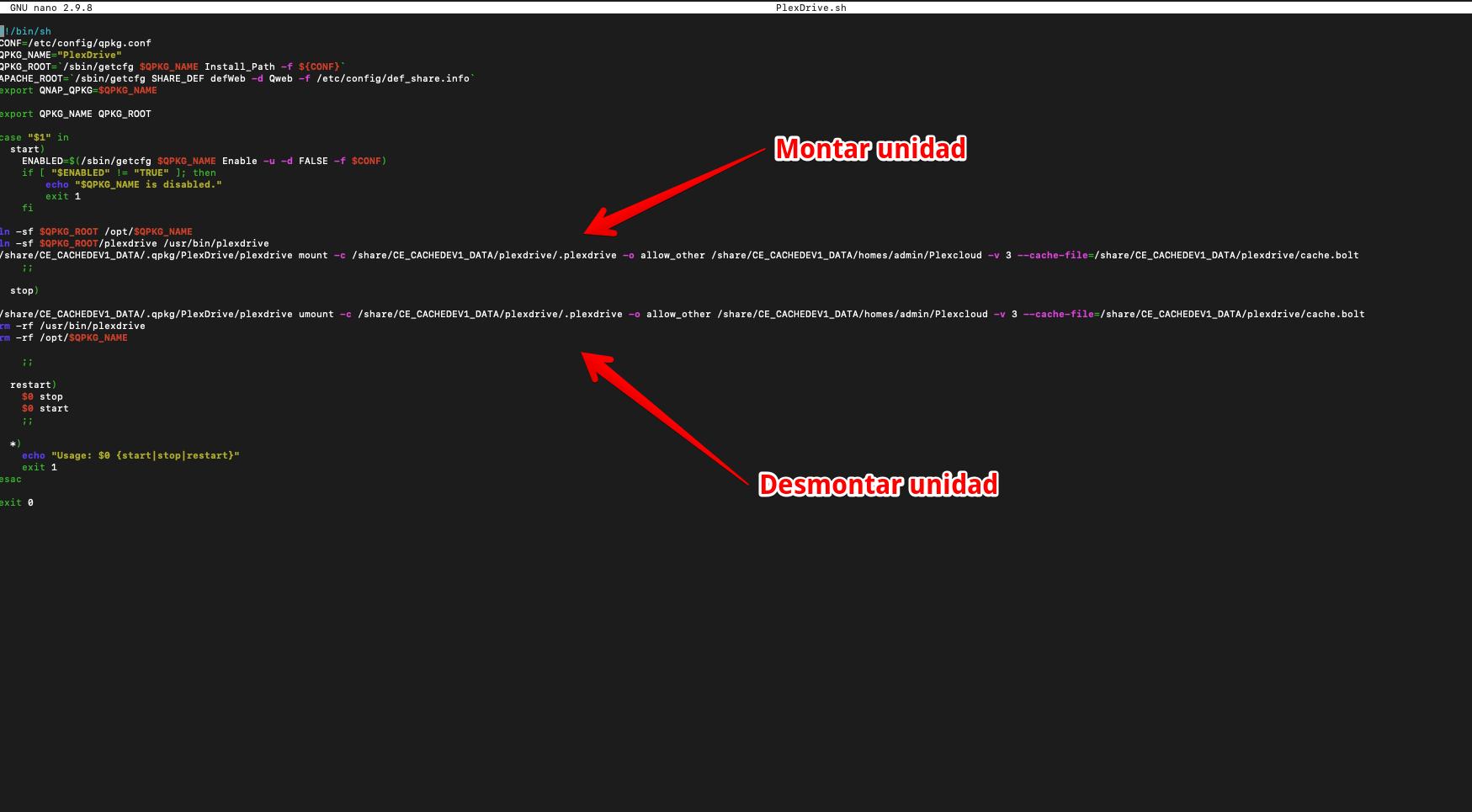 Instalar y configurar PlexDrive en un Nas Qnap